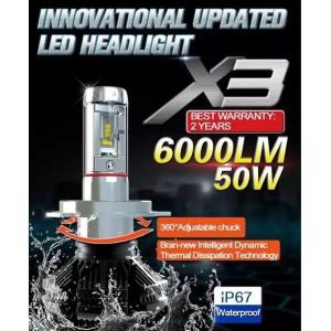 Диодные лампы X3 стандарт H4
